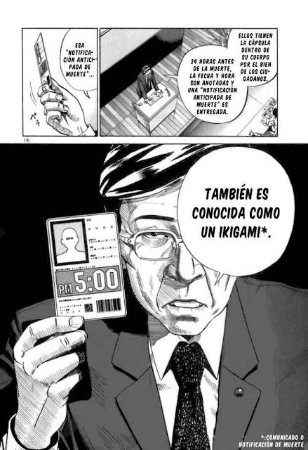 Página Manga Comunicado muerte