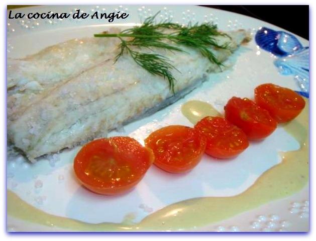 La cocina de angie lubina a la sal con aroma de eneldo - Salsa para lubina a la sal ...