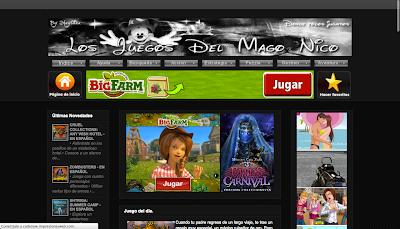 Los Juegos del Mago Nico. Recopilación de juegos y minijuegos para pc gratuitos y en español. www.directoriopax.com