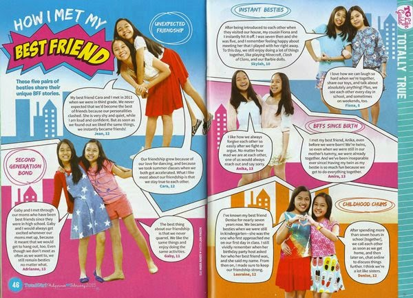 Total Girl Magazine Philippines February 2015, BFF story, tweens, magazine, life guide