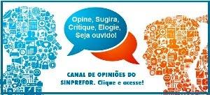 Canal de opiniões do SINPREFOR