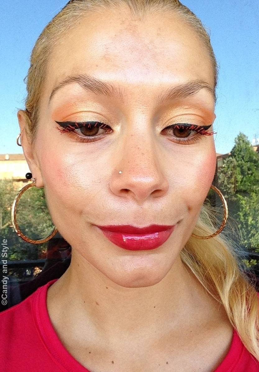 Cat Eyes, Orange Lashes, Glowy Skin - Lilli Candy and Style Fashion Blogger