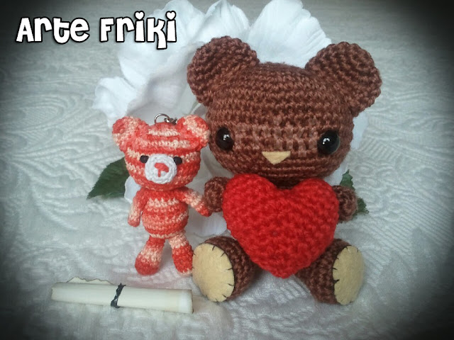 bear oso amigurumi heart corazon crochet ganchillo