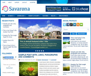 Savarona 3 Column Blogger Template