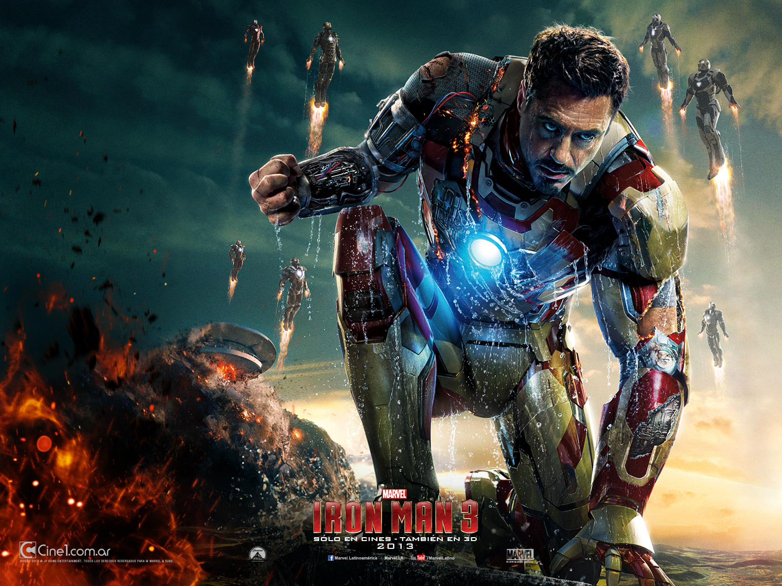 Nuevo wallpaper latino de IRON MAN 3 (Diferentes resoluciones)