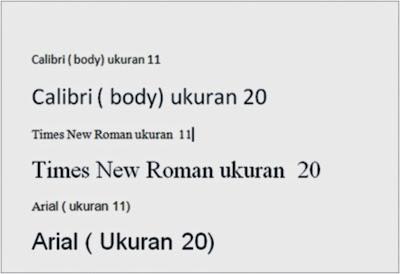 Mengganti  jenis dan ukuran Huruf dalam microsoft word