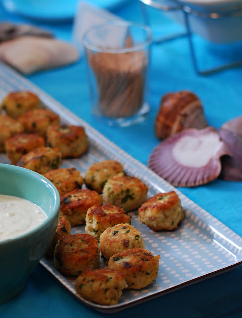 lemon-parsley fish-cakes for the grown-ups
