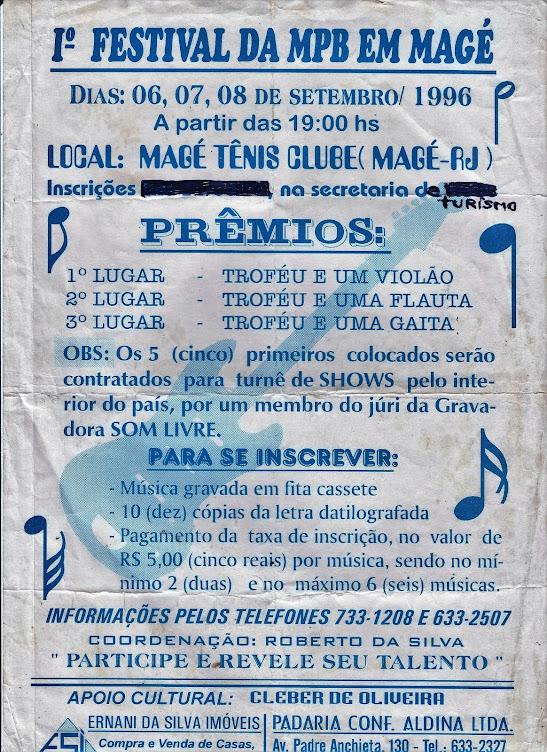 PRIMEIRO FESTIVAL DA MPB EM MAGÉ