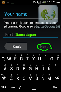 Membuat nama pada akun gmail