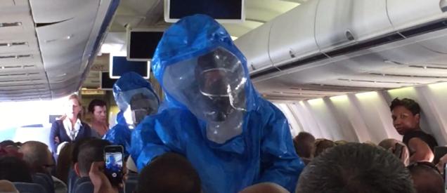 Bromista genera alarma de ébola en el vuelo de US Airways