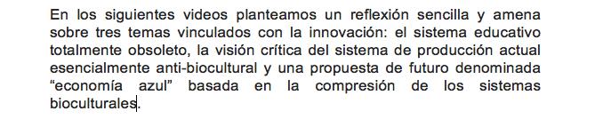 Tres visiones de la innovación