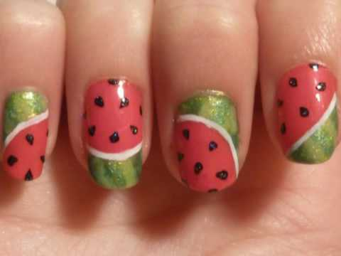 Simple summer watermelon nail art tutorial divas stalk 0g prinsesfo Gallery