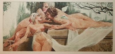 Les Poëmes de Henri de Régnier illustrés par Gaston La Touche et William Fel (1917). Maroquin signé de Louise Pinard (la fille du relieur Durvand). dans Auteurs, écrivains, polygraphes, nègres, etc. fel3