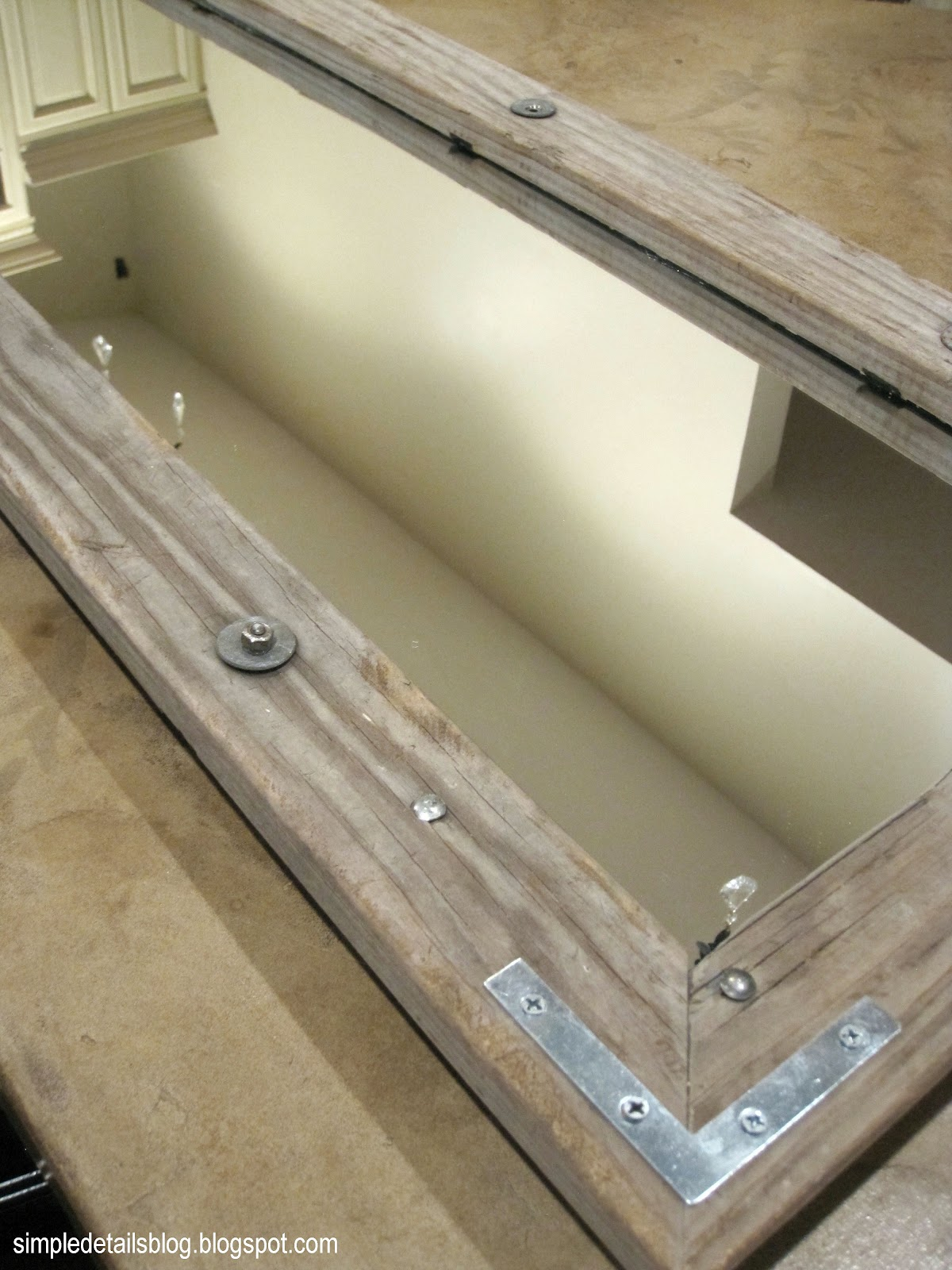Shanty 2 Chic Coffee Table Simple Details Old Ladder New Mirror Frame