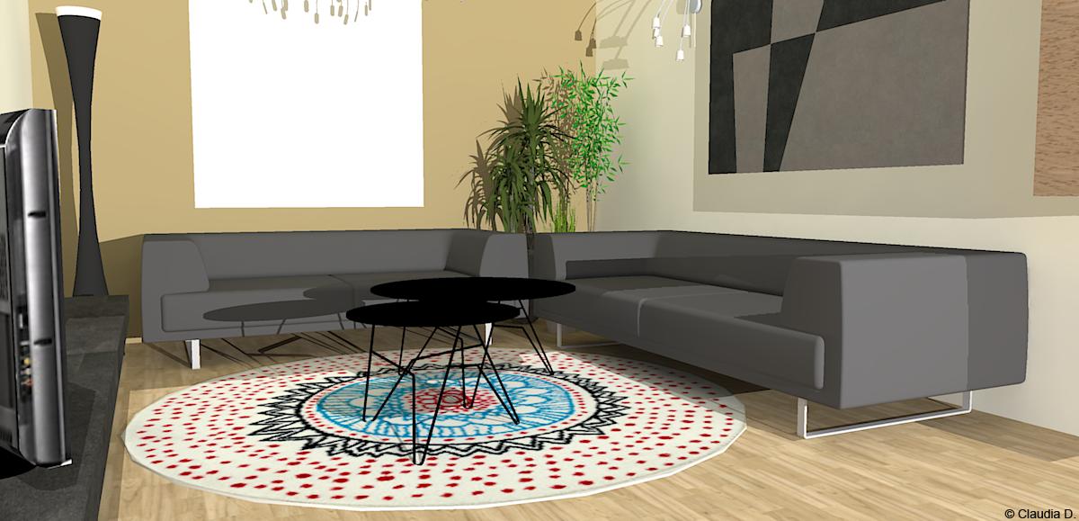 Your room progetto di una zona living rooms - Stufe elettriche a parete per bagno ...