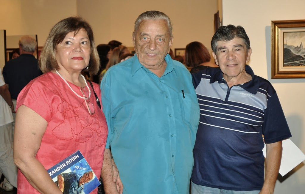 Presidente de honra da Soarte, Edith Sidi, Alexander Robin e o colunista Waldair Queiroz