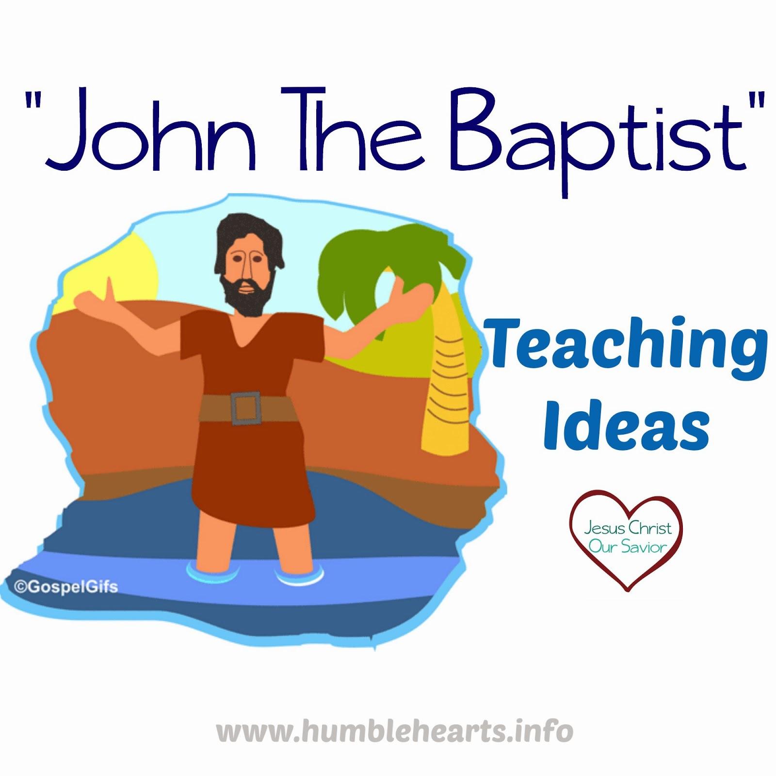 """John The Baptist And Jesus For Kids """"John the Baptist..."""