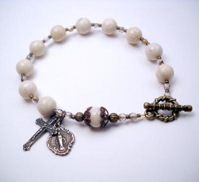 https://www.etsy.com/listing/57918648/catholic-rosary-bracelet-white