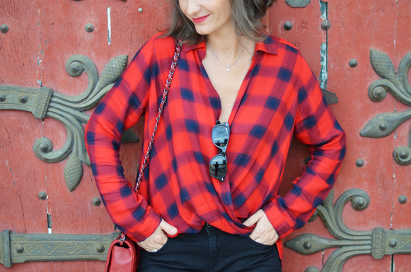 Chemise à carreaux hollister