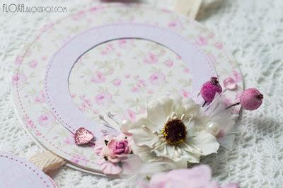 фоторамка розовая девичья нежная