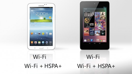 Galaxy Tab 3 vs. Nexus 7 Wireless