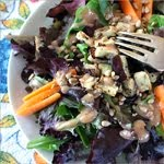 Eggplant salad with umi-tahini dressing