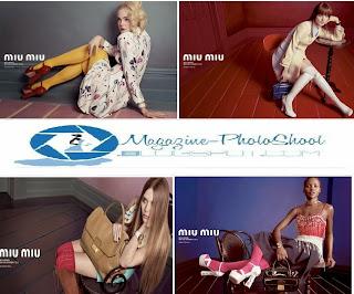 Ad Photoshoot : Elle Fanning, Bella Heathcote, Lupita Nyong'o & Elizabeth Olsen Photoshoot For Miu Miu