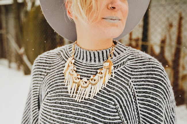 Bauble Bar Vegas Fringe Bib - Gold Statement Necklace