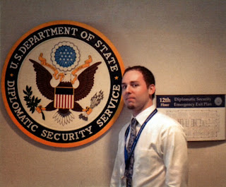 Adam Dockery did his internship at Diplomatic Security Services.