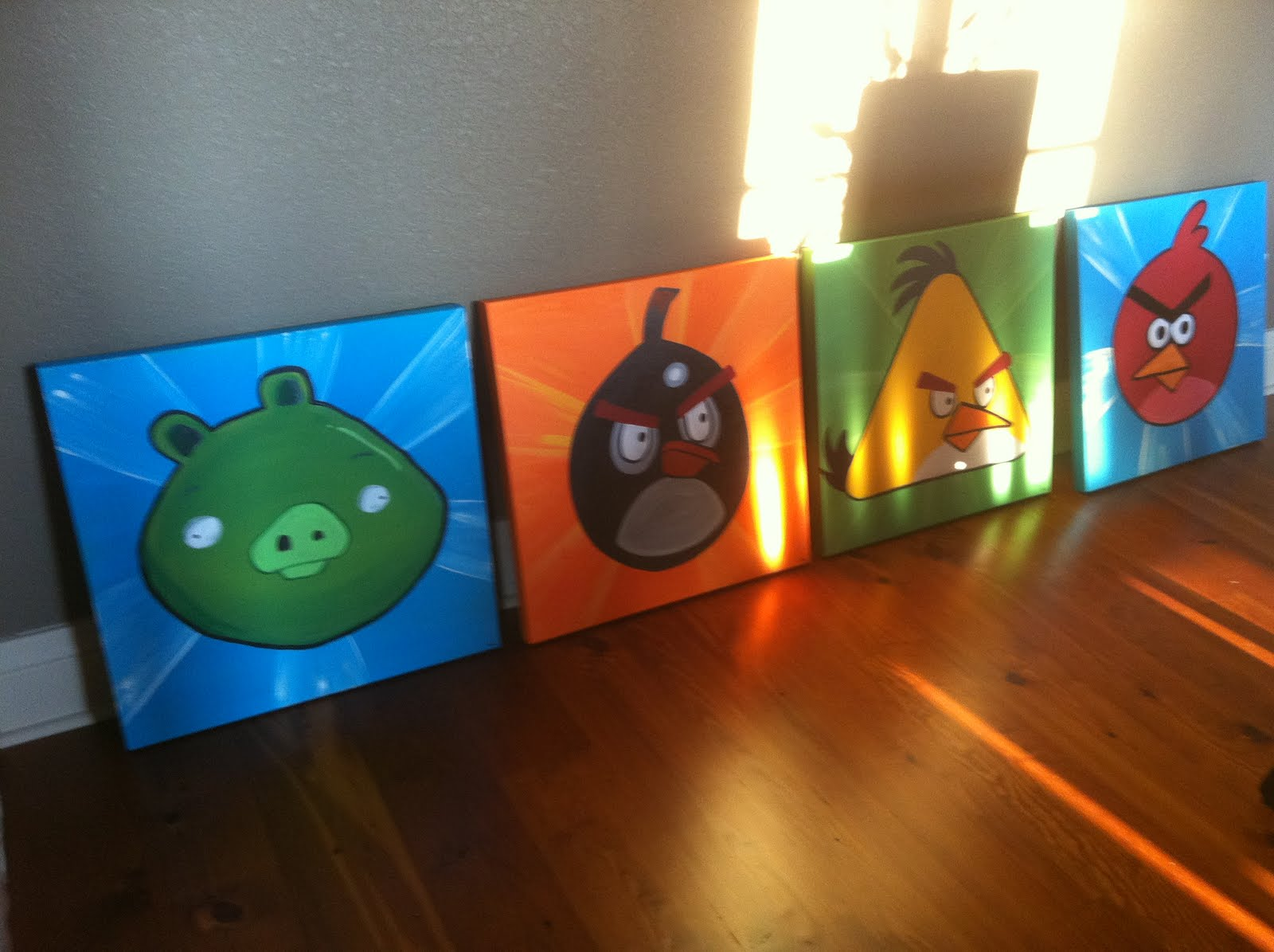 Neon Southern Lady Angry Birds Room