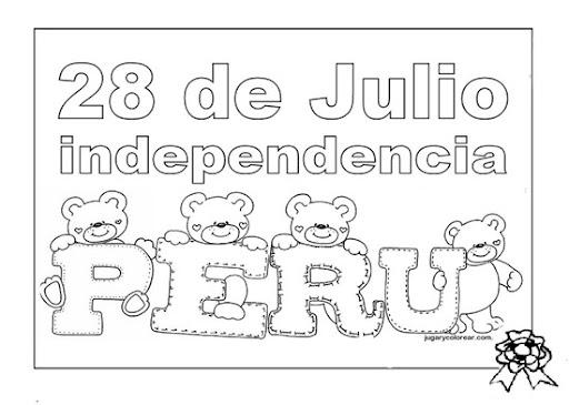 Dibujos de fiestas patrias peruanas para colorear | Dibujos para
