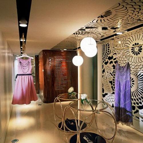 Vakko Couture the Elegant Boutique Design with Unique Ceiling Design, Boutique Design, Fashion Store Design, Interior Design, Unique Fashion Store Design, Floral Interior Design, Architecture Design