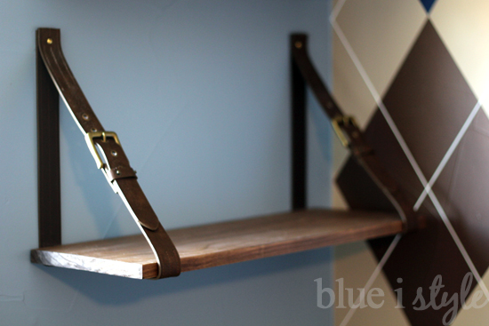 {diy with style} Leather Belt Shelves: A High-Low Story ...