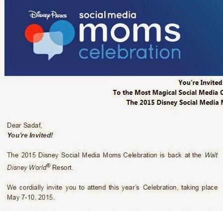 2015 Disney Social Media Celebration Invitation #DSMMC