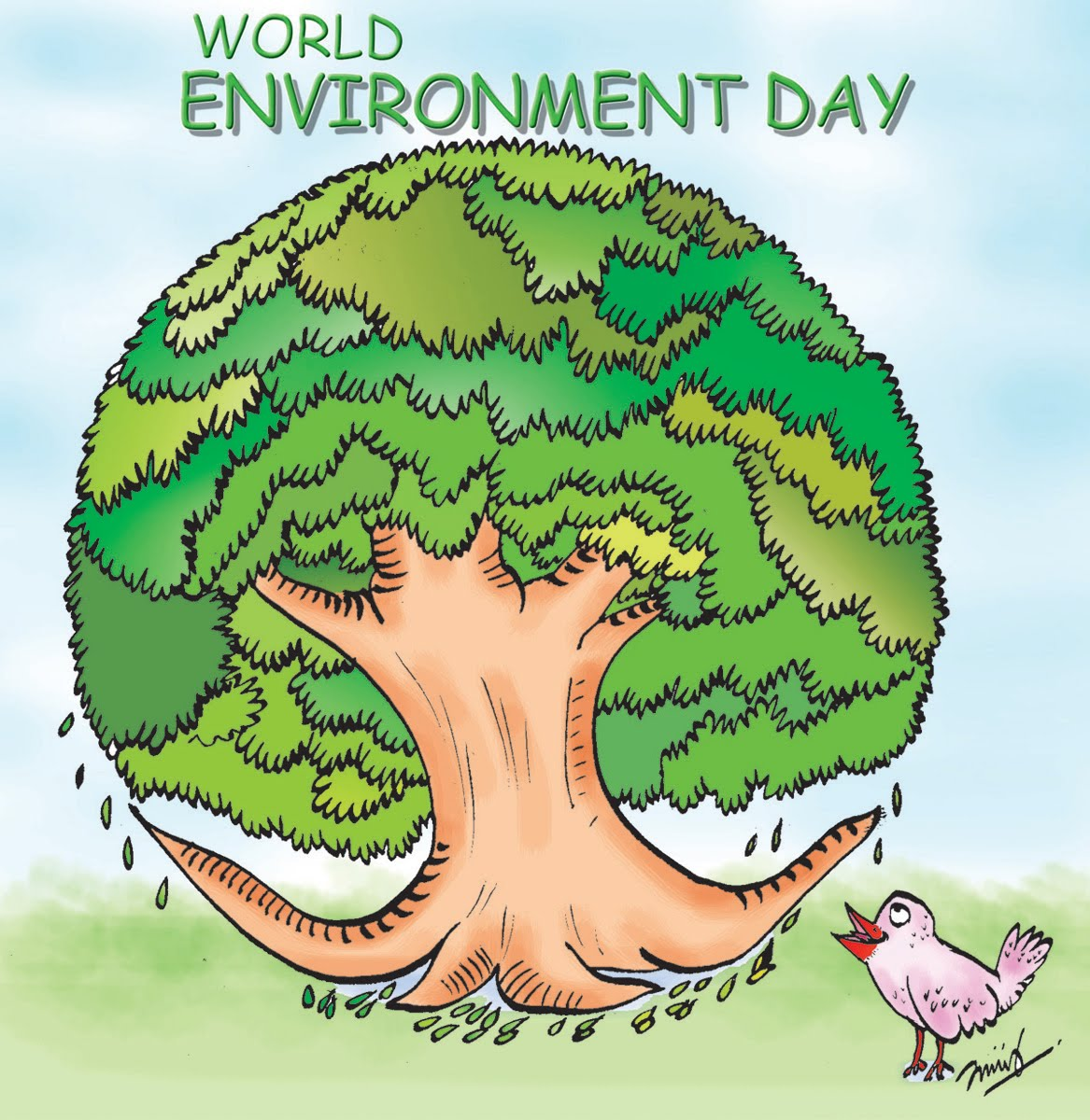 world environment day World environment day (wed) is celebrated every year on 5 june to raise global awareness to take positive environmental action to protect nature and the planet earth.