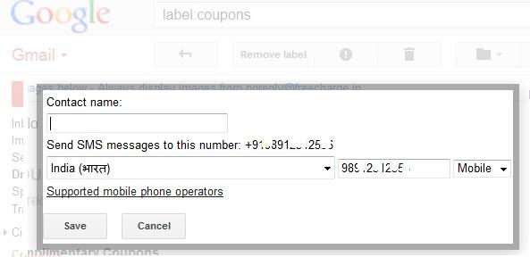Gmail Save Contact