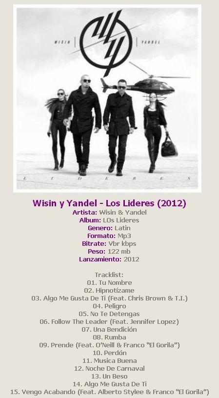 Disco Los Lideres Wisin Y Yandel