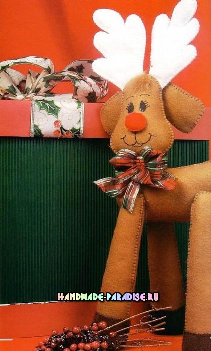 Выкройки рождественских оленей (6)