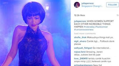 [ShowBiz] Julia Perez Unggah Foto Seksi untuk Dukung Hari Tanpa Bra