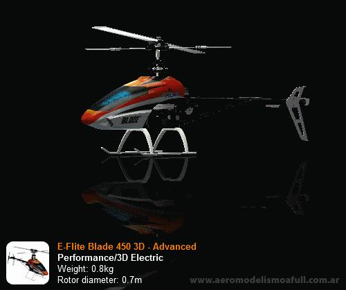 E-Flite Blade 450 3D para Phoenix RC