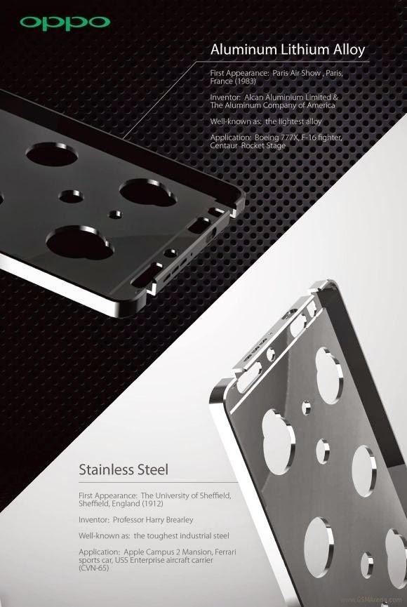 Oppo N3, Segera Hadir Dengan Balutan Stainless Steel!