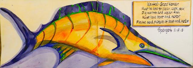 Urban sketchers s f bay area spenger 39 s fresh fish grotto for Spenger s fresh fish grotto