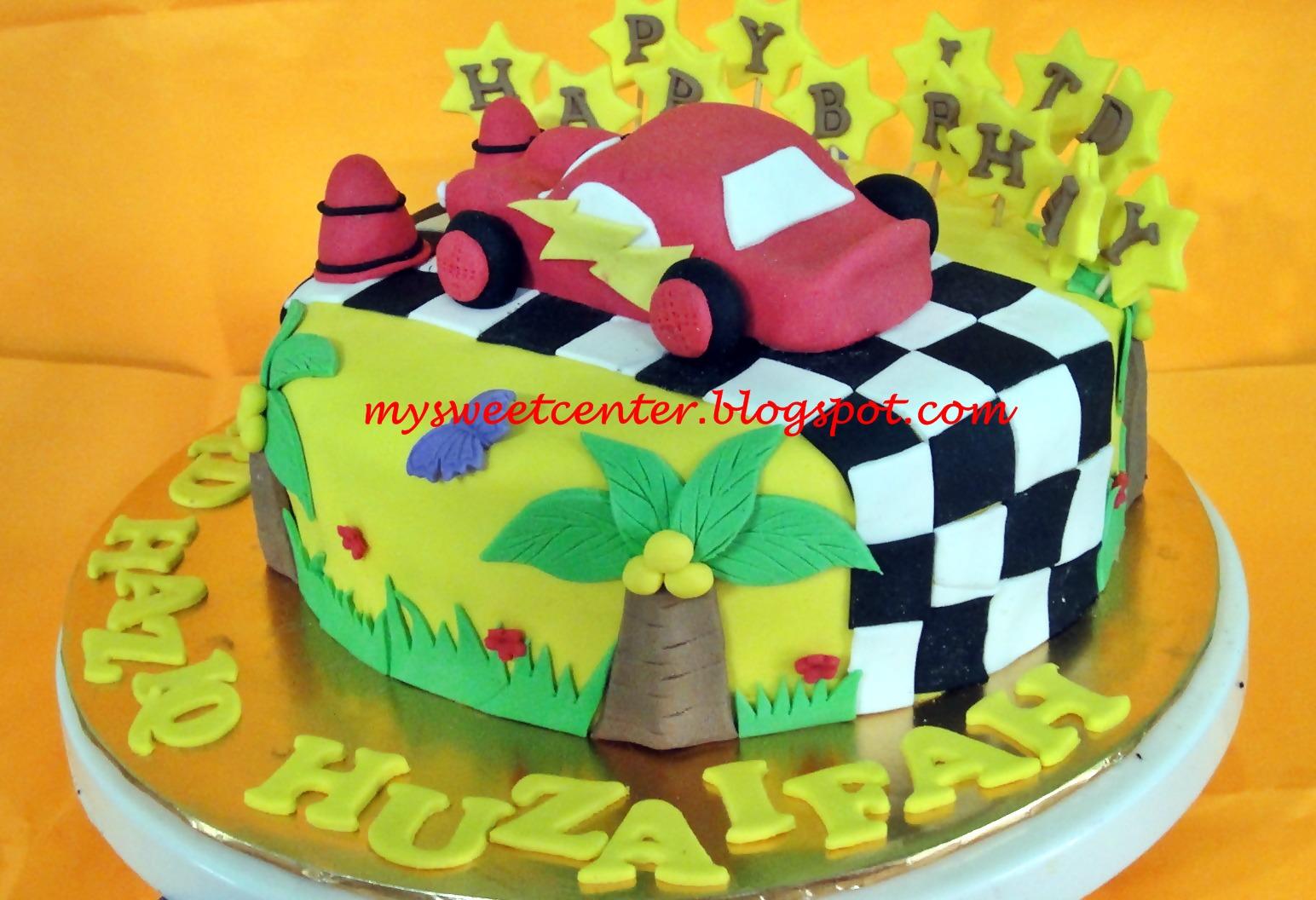 My Sweet Center Car Lightning Mcqueen Birthday Cake