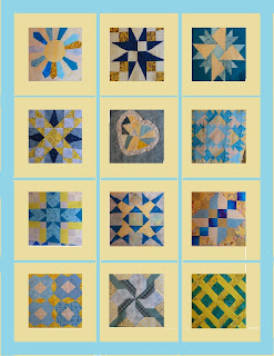 Rendering Aqua-yellow quilt