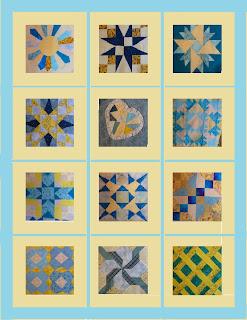 Rendering Aqua-yellow quilt