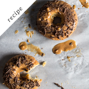 Banana bread doughnuts with an almond butter glaze | Flourishing Foodie