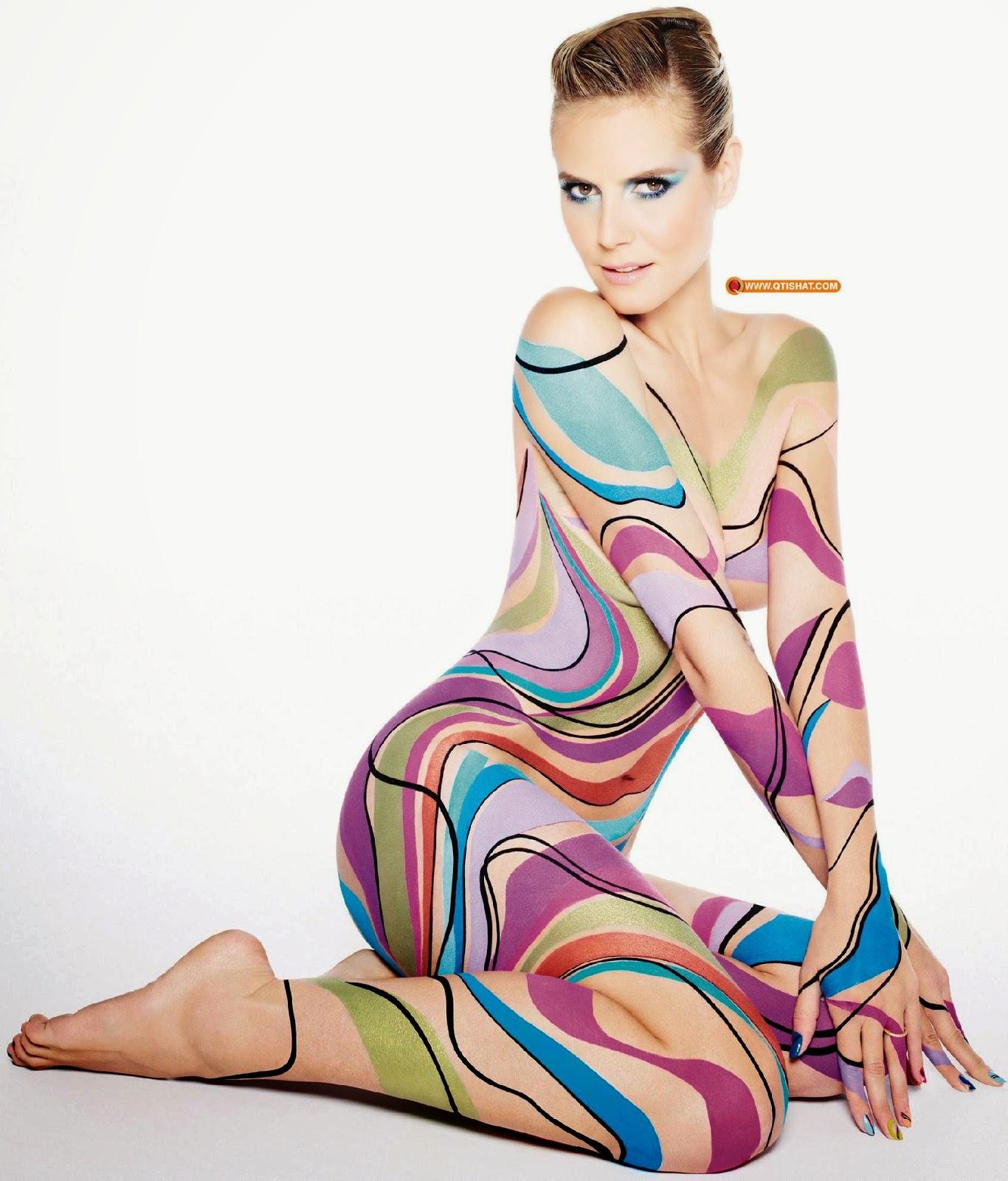Heidi Klum Body Painting | Body Art and Painting