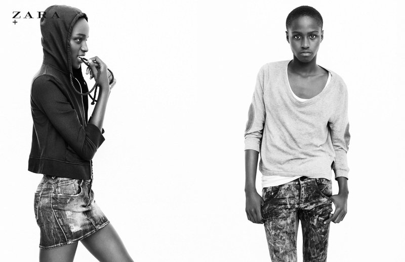 Jamaican model Ashane Rose is featured in Zara's Lookbook for their Spring ...
