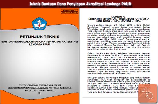 Juknis Bantuan Dana Penyiapan Akreditasi Lembaga PAUD