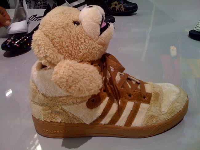adidas jeremy scott bear slides